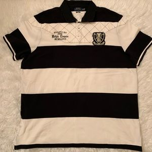 Polo Ralph Lauren Black White Stripe Polo ShirtXXL